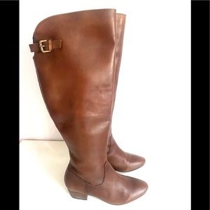 DIBA TRUE over flow brown V crust leather boots